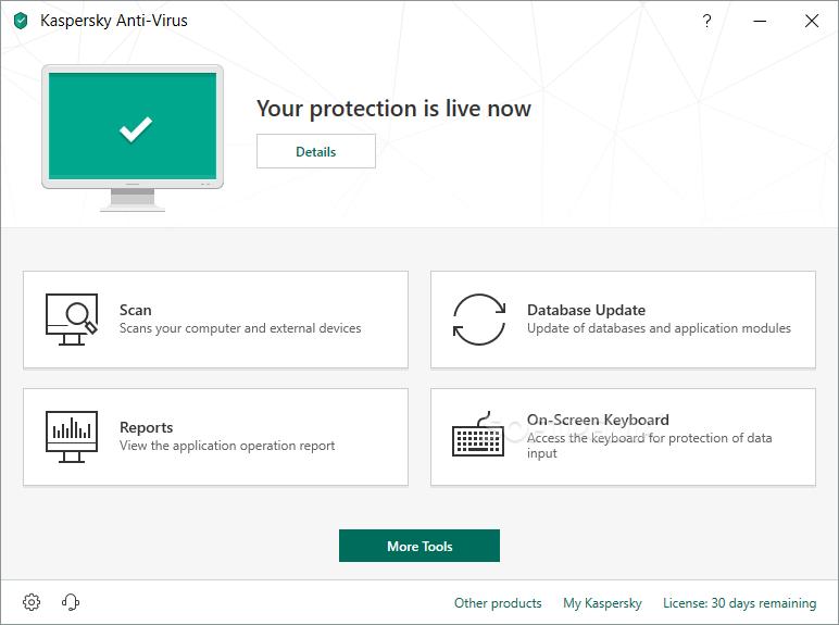برنامج Kaspersky Anti-Virus Update August