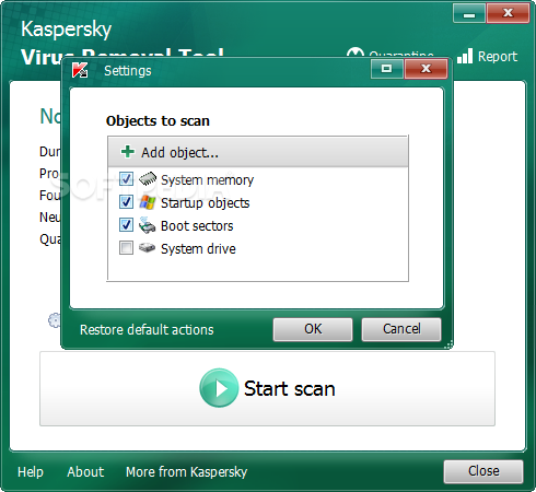 Kaspersky Virus Removal Tool screenshot 4