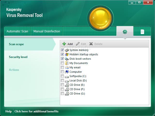 Kaspersky Virus Removal Tool screenshot 6