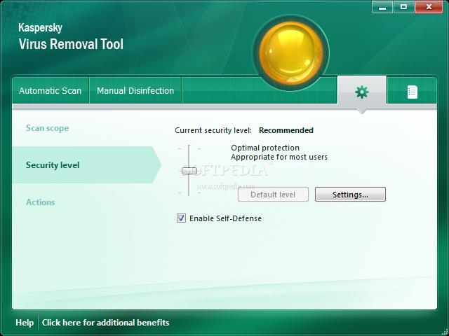 Kaspersky Virus Removal Tool screenshot 7
