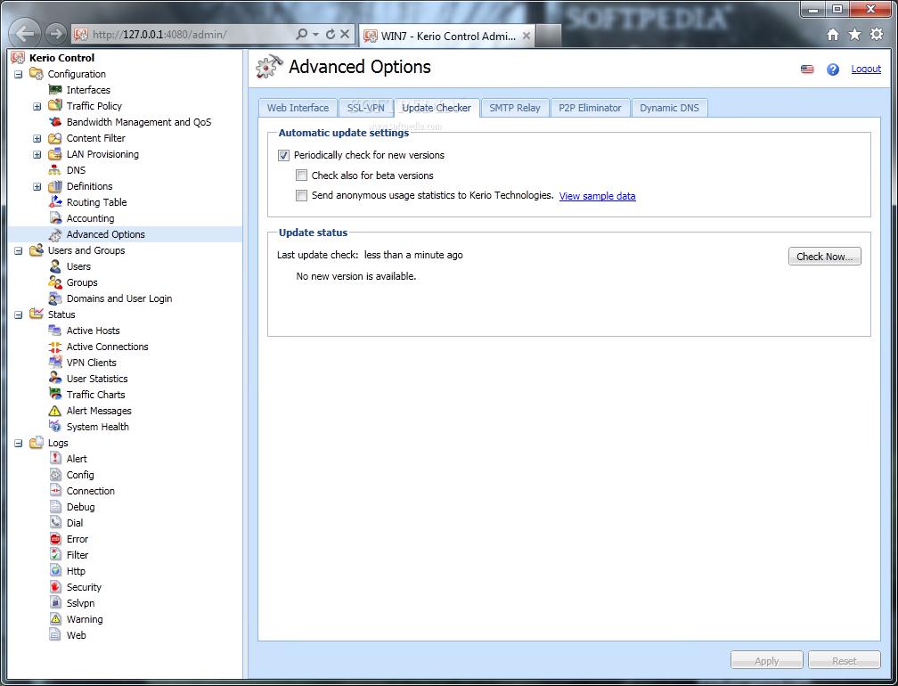 Kerio WinRoute Firewall screenshot 14