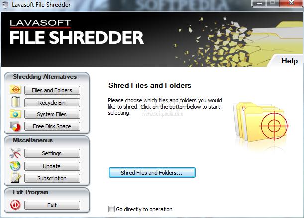 A file shredder by Lavasoft
