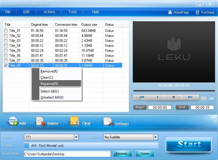 لإصلاح الفيديو والنسخ LeKuSoft DVD Ripper 5.2 LeKuSoft-DVD-Ripper_1