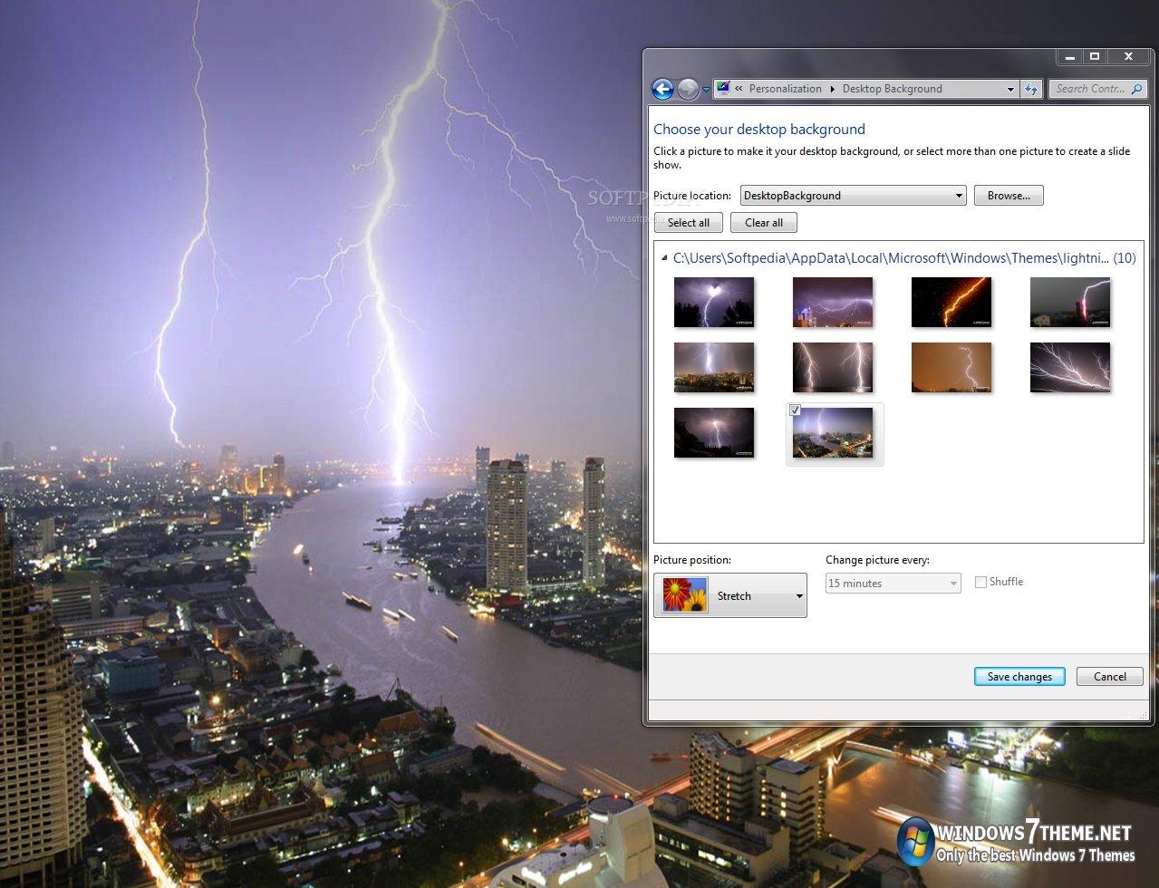 Lightning Windows 7 Theme screenshot 1 - A sample of what  Lightning Windows 7 Theme can do for your desktop.