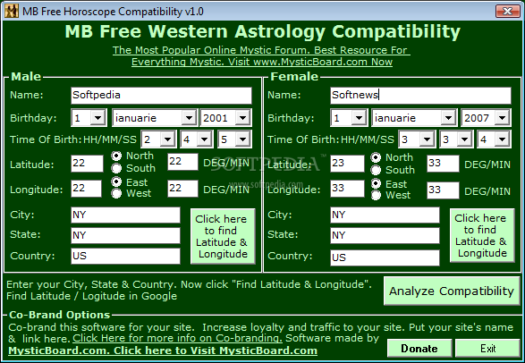 Horoscope compatibility by date of birth free