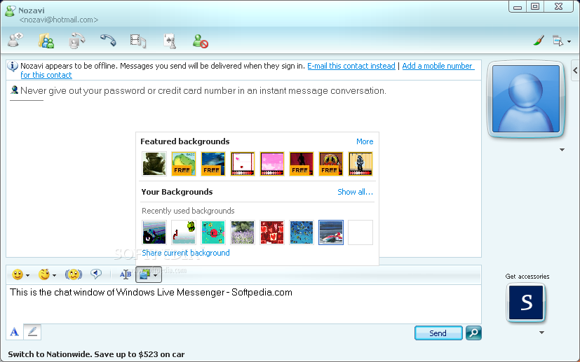������ ���� Windows Live Messenger 8.5.1302.1018