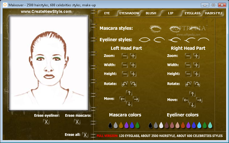Hairstyle Makeover Virtual hair and beauty makeover and make up games on