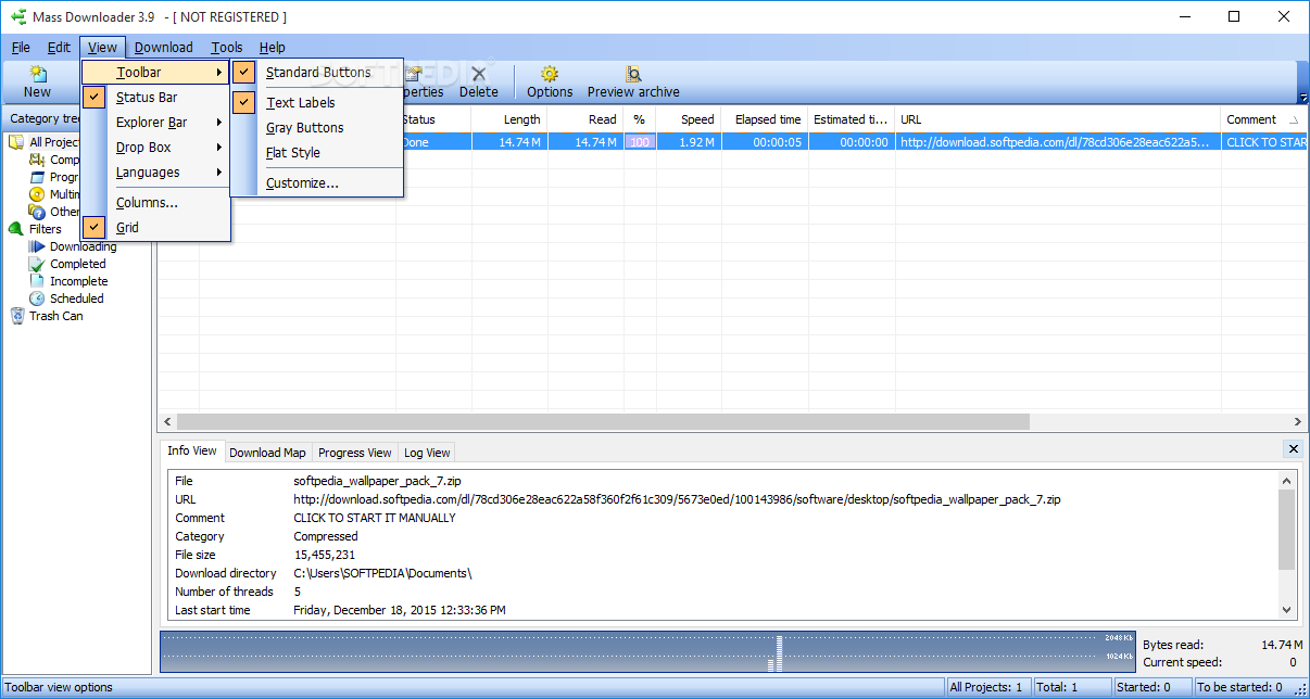 screenshot Mass Downloader 3.8.850 1