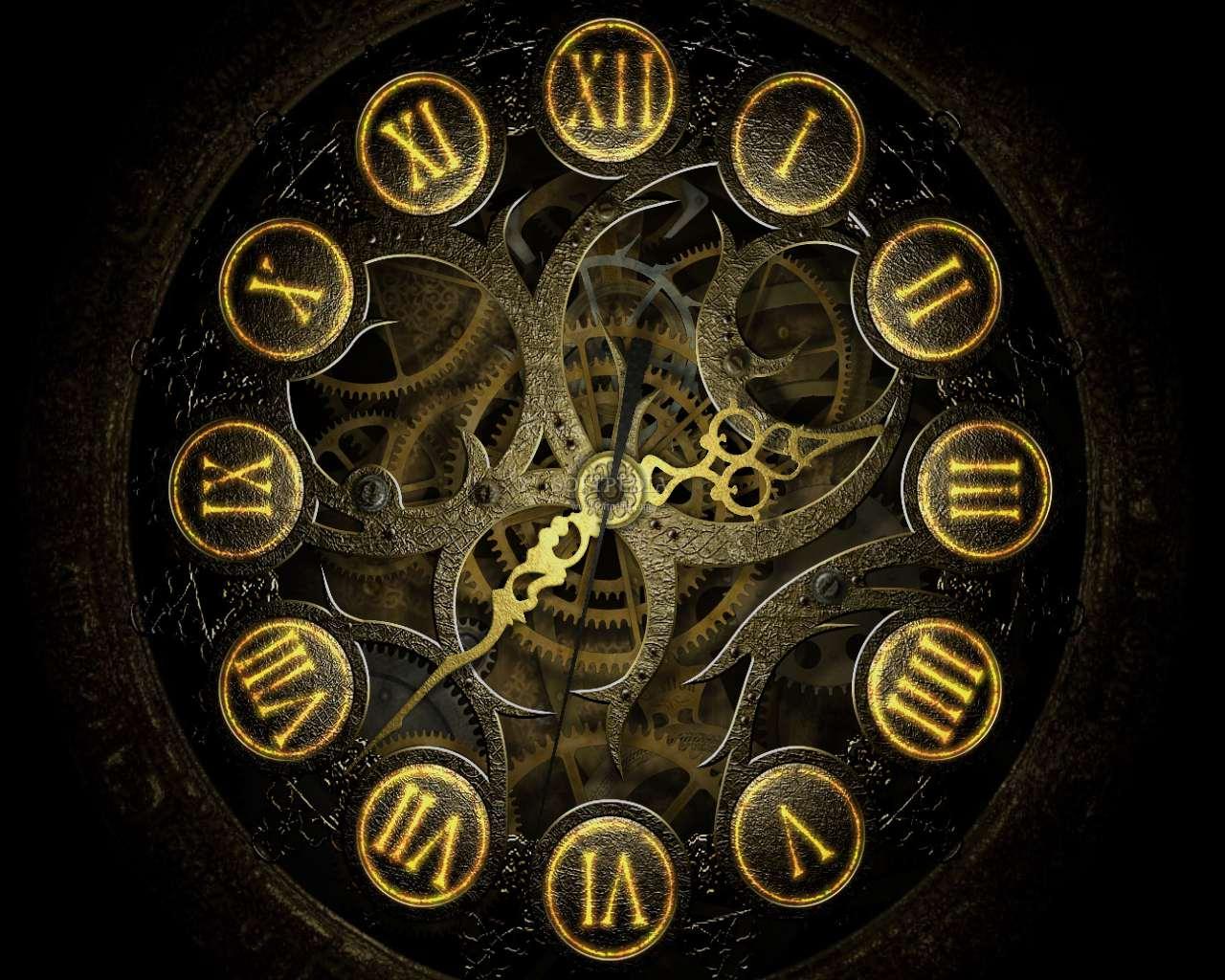 3d clock wallpaper - photo #13
