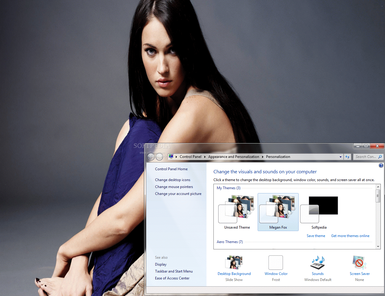 Download Windows 7 Theme-Megan fox
