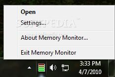 برنامج Memory Monitor 2.00 تراقب استخدام الذاكرة الكمبيوتر