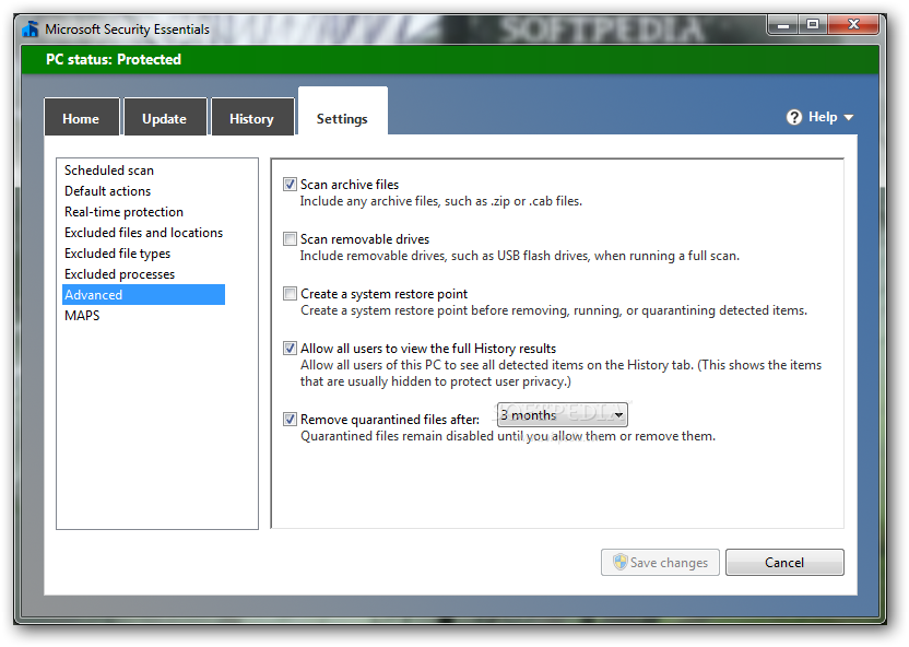 Microsoft Security Essentials screenshot 7