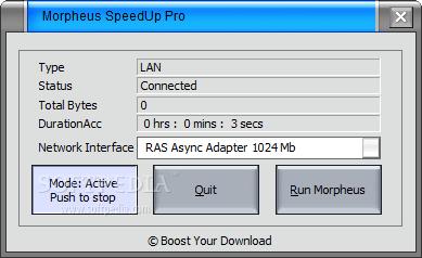 برنامج Morpheus SpeedUp Pro 5.3.9 لزيادة السرعة