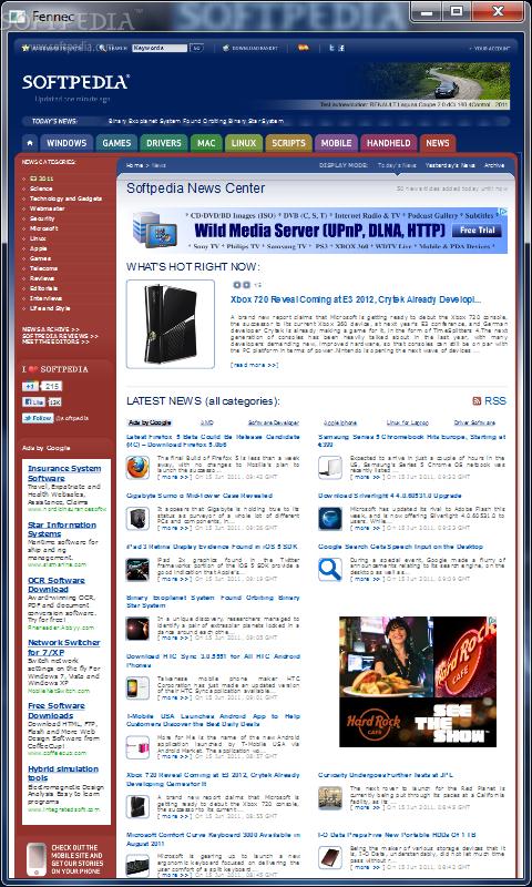 Mozilla Fennec 1 برنامج متصفح فاير فوكس للجوال