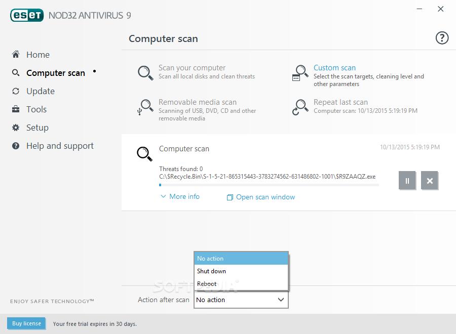Nod32 antivirus system 2.70.31