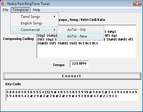 Nokia Fast RingTone Tuner screenshot 1
