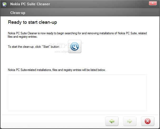 Nokia PC Suite Cleaner screenshot 1