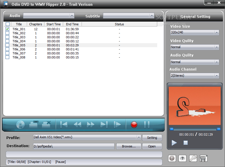 ������ Odin Ripper ������ ����� Odin-DVD-to-WMV-Ripper_1.png