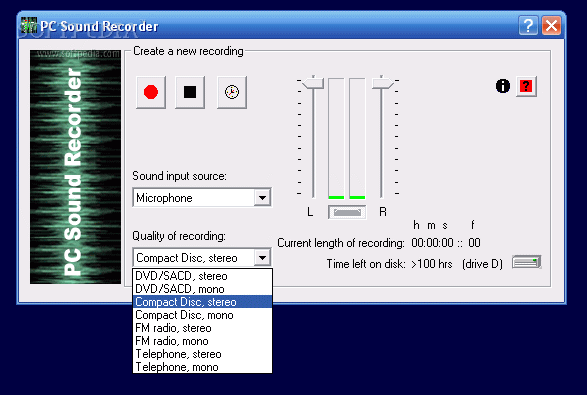 PC Sound Recorder and Editor 1.05