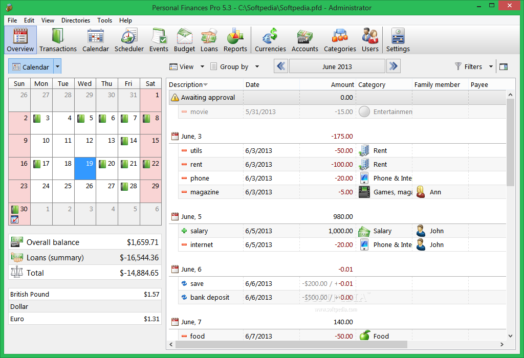 Personal Finances Pro screenshot 1