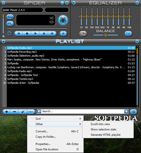 Spider-P 2.3.11 برنامج عالمي لقراءة أنواع الصوتيات Portable Spider Player 2.3.11 بتاريخ