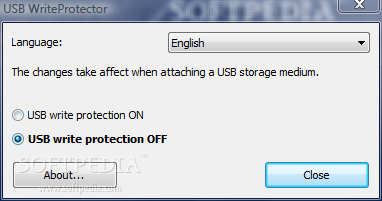 SoftPedia-USB Write Protector