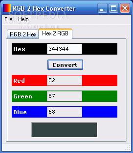 Hex binary color converter