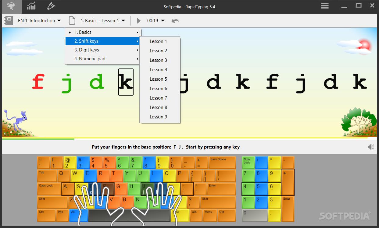 الكتابه الكيبورد RapidTyping Typing Tutor