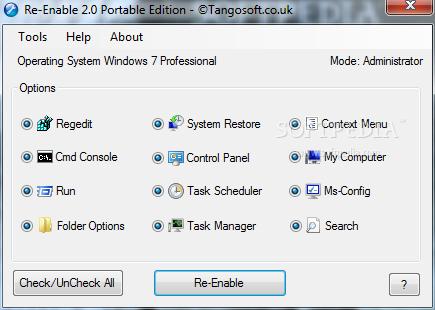 Re-Enable Portable screenshot 1