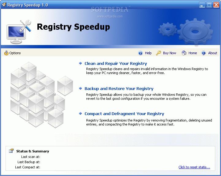 Registry Speedup. لاصلاح وتنظيف وعمل نقاط استعادة للنظام