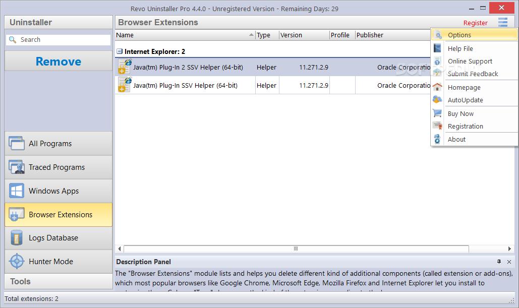 Multi-Level Backup System Revo Uninstaller Pro creates backups of