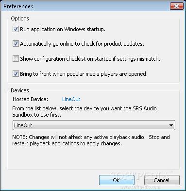 SRS Audio Sandbox 5 Memperbesar suara pada laptop