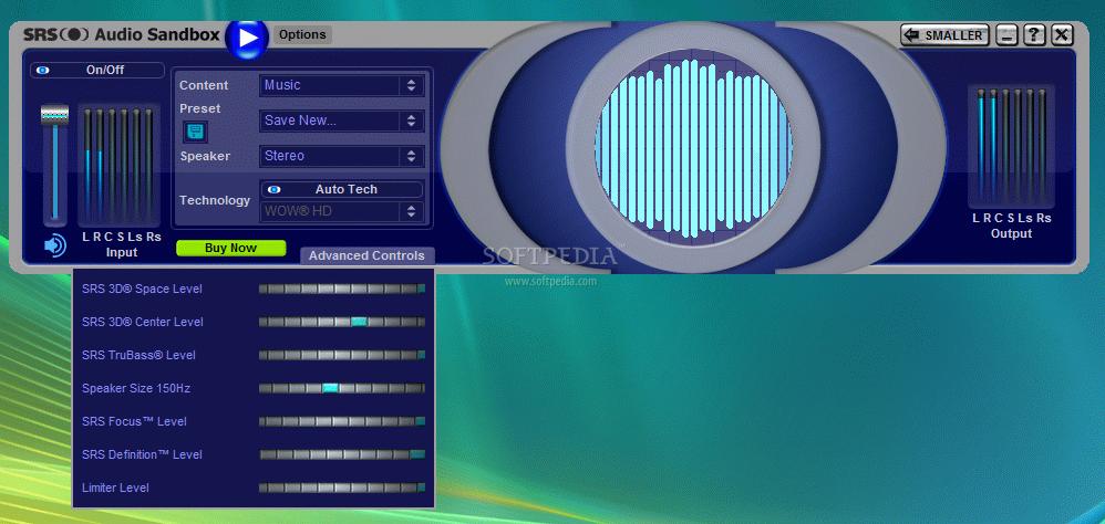 SRS Audio Sandbox 7 Memperbesar suara pada laptop