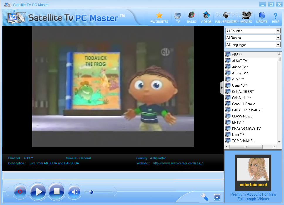 Satellite TV PC Master 6.0 مشاهدة 4107 محطة فضائية عبر شبكة الأنترنت. بكره اصبح اليوم