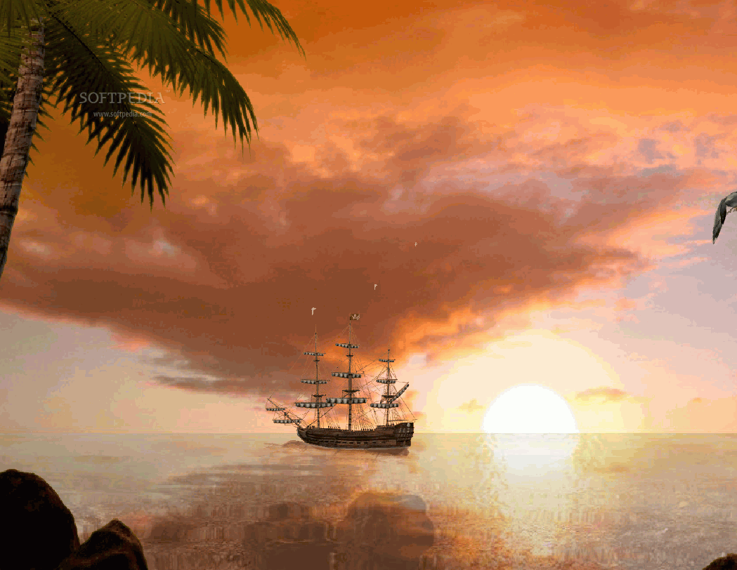 Sea Sunset Animated Wallpaper 1