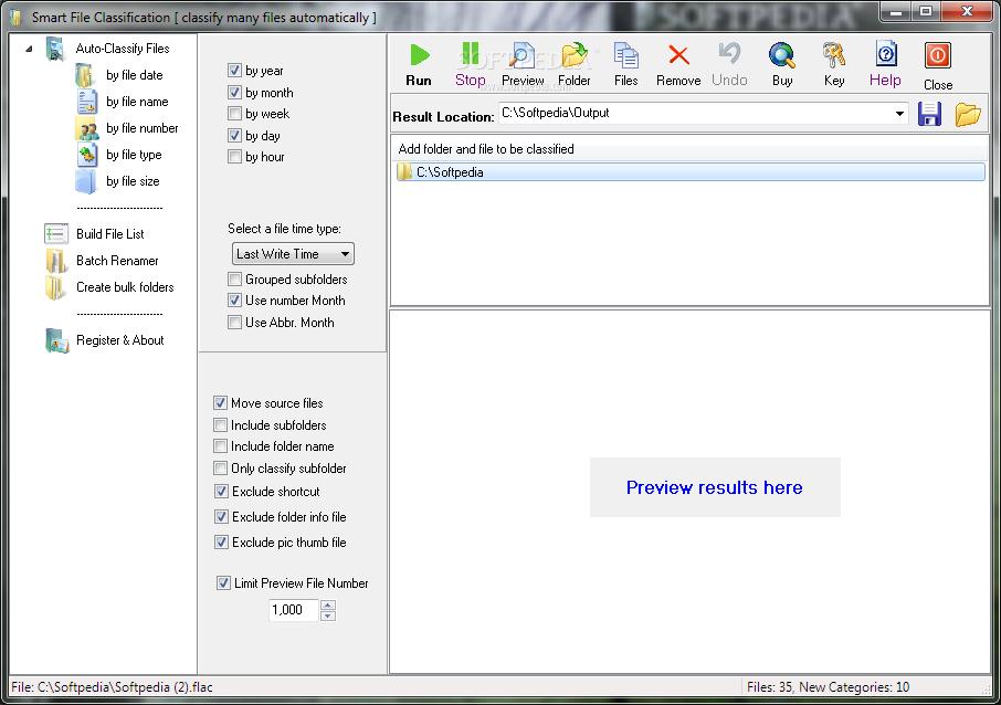 برنامج Smart File Classifier 2.5 ترتيب الملفات ضمن المجلدات بهذا
