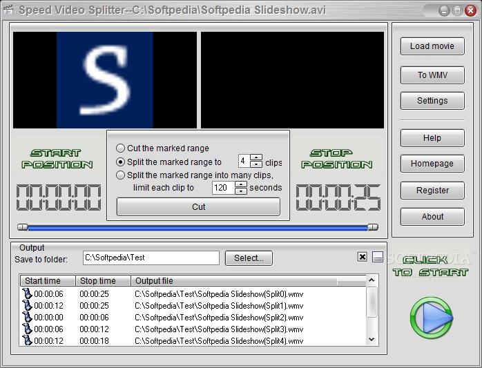 تقطيع الفيديو Speed Video Splitter