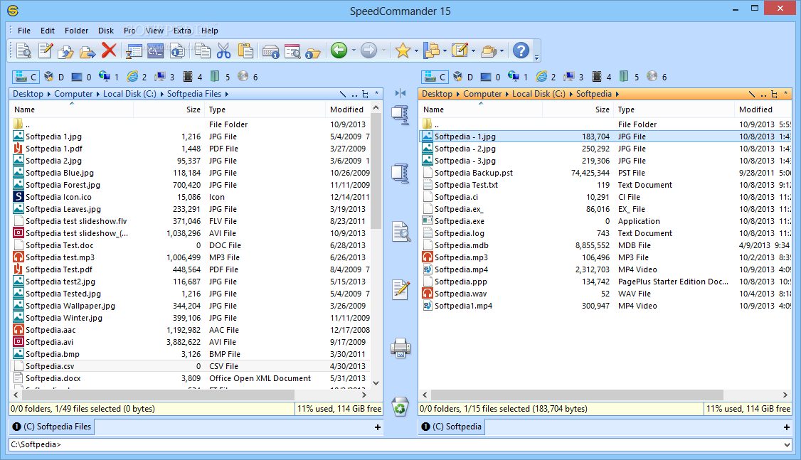 Imagen 1 de SpeedCommander - The main window of SpeedCommander allows