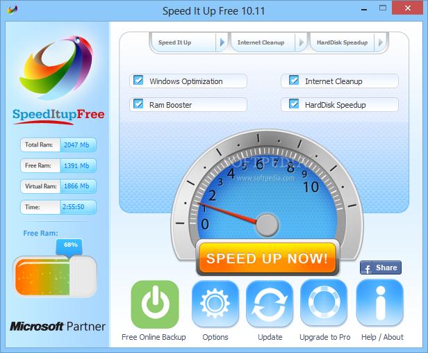 SpeedItup Free 4.92 لتسريع أداء الكمبيوتر