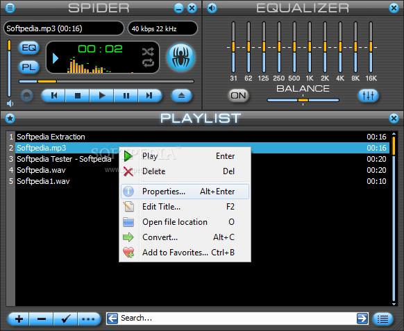 تحميل مشغل الصوتيات Spider Player 2.4.5 في آخر إصداراته Spider-Player_1.png