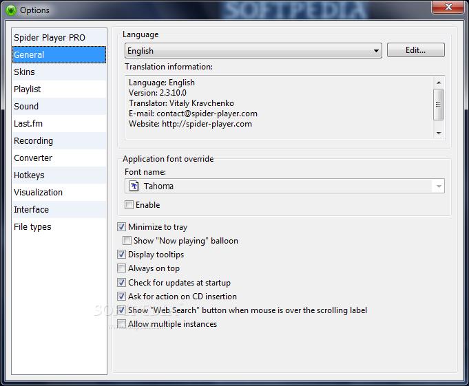 تحميل مشغل الصوتيات Spider Player 2.4.5 في آخر إصداراته Spider-Player_3.png