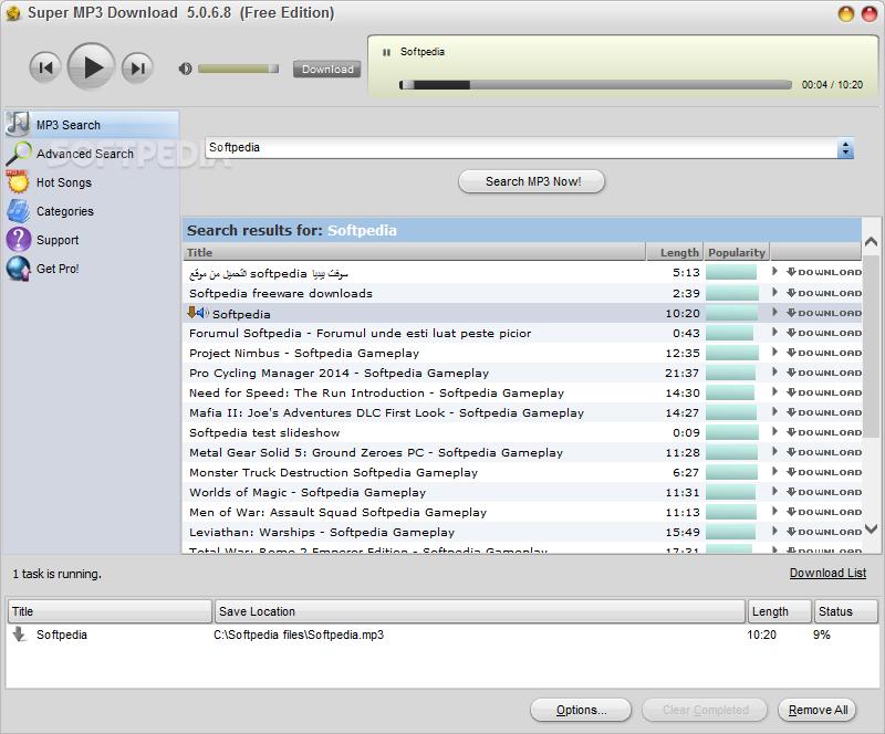 Super MP3 Download 1 برنامج تحميل الملفات Super MP3 Download 4.6.4.2