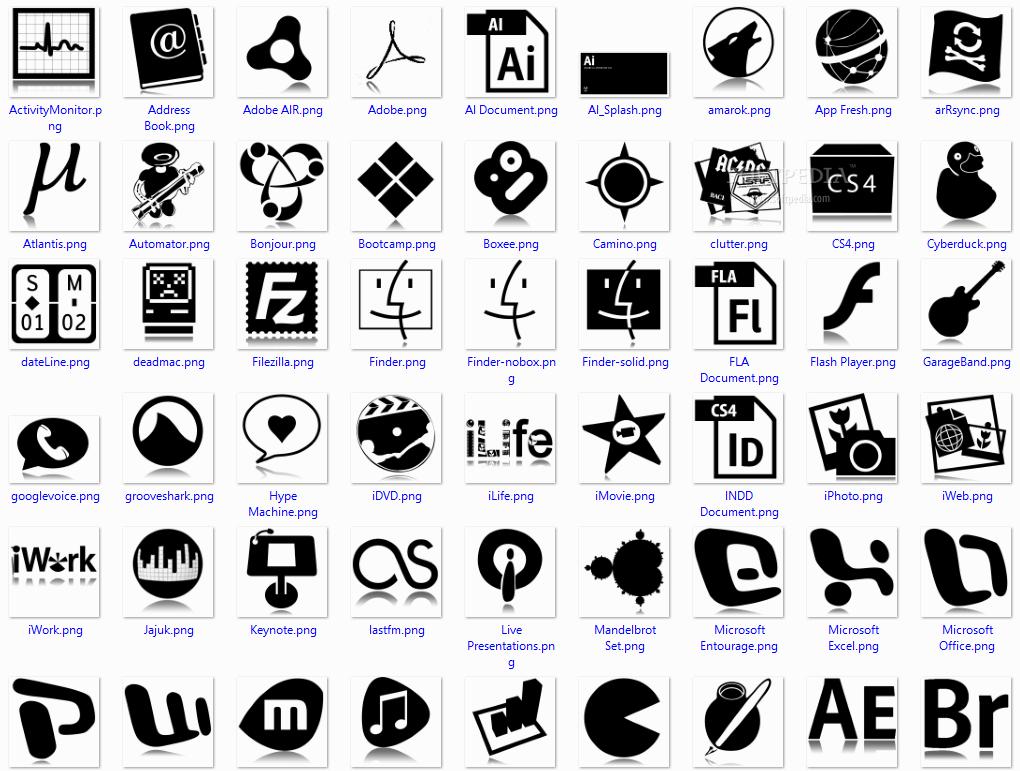Icons Black on Desktop a Stylish Black And White Icon
