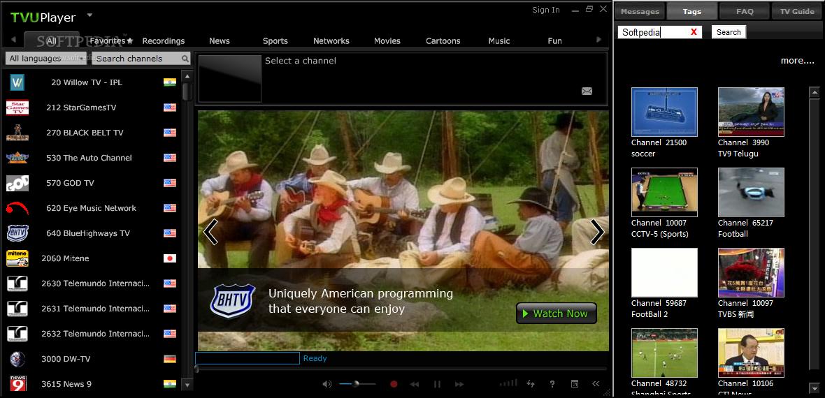 برنامج TVU Player اصدار لتشغيل بسرعه وكفاءه