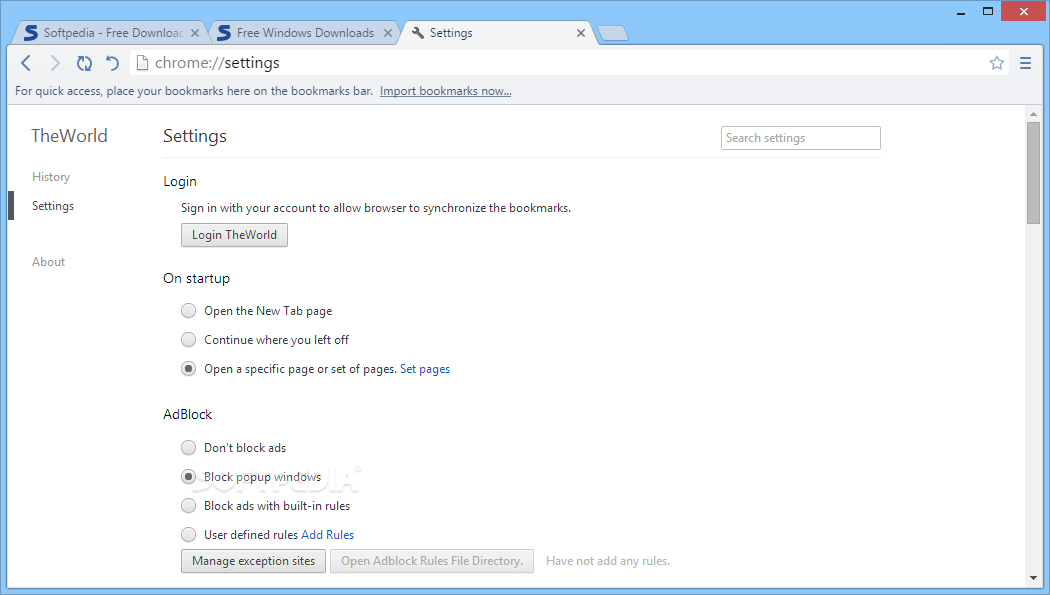 ������� ������ TheWorld Browser 3.0.4.1
