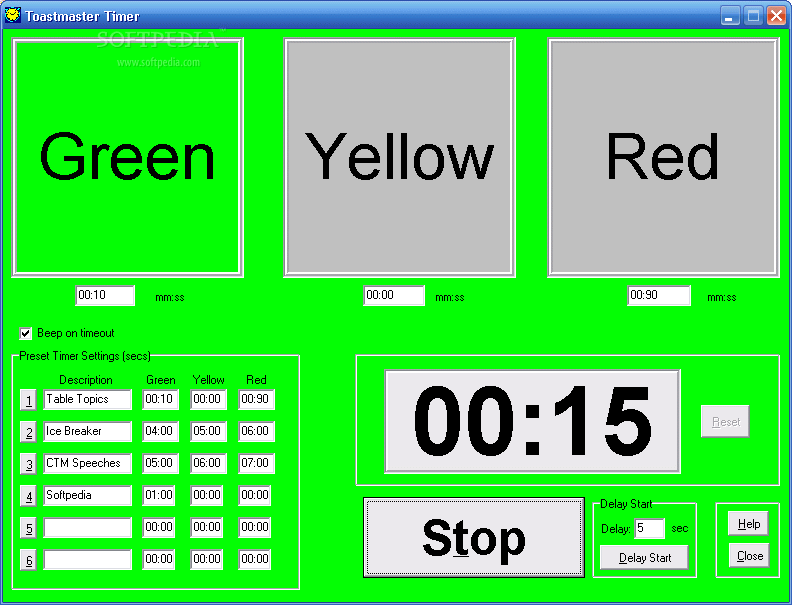[Toastmaster Timer 1.1]