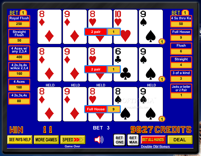 harrahs casino free video poker 100 play