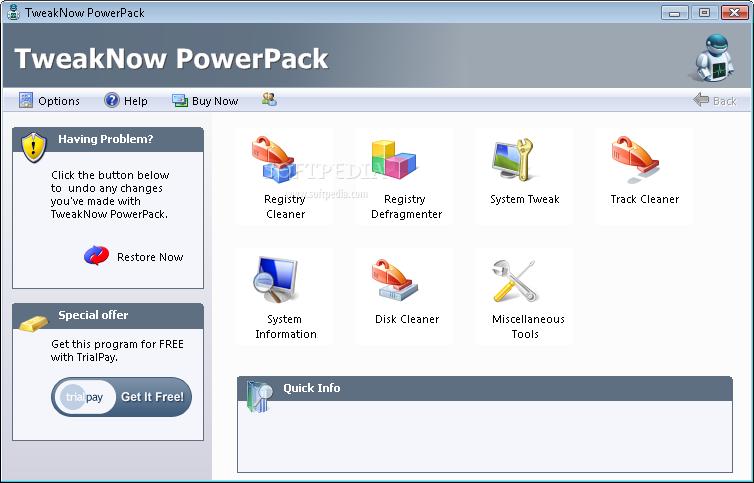 TweakNow PowerPack Professional v1.0.8