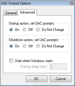 UAC Snooze screenshot 2