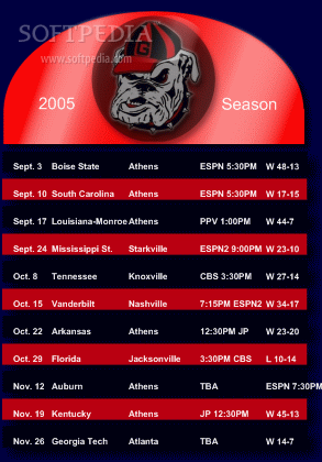 georgia bulldogs football schedule   Latest georgia